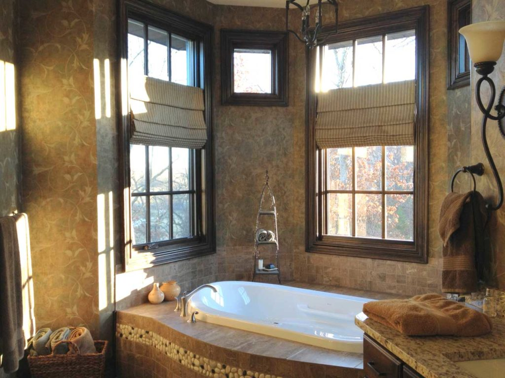 Bathroom Roman Shades